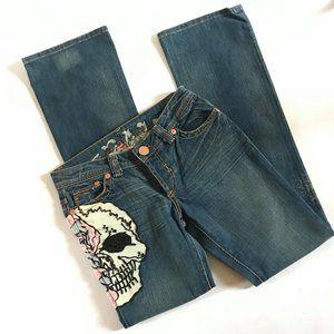 NEW GRAIL Sugar Skull Jeans Bootcut 27